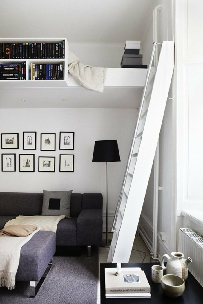 Delightful Hochbett Für Erwachsene Weißes Interieur Design Inspirations