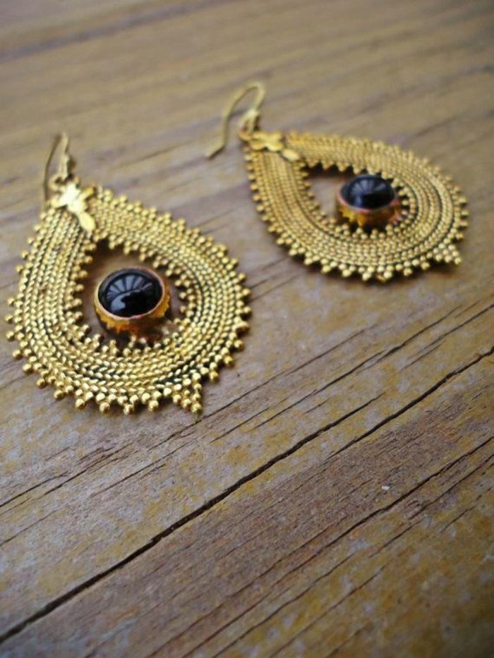 indische-Ohrringe-golden-Boho-Stil-ethnisch