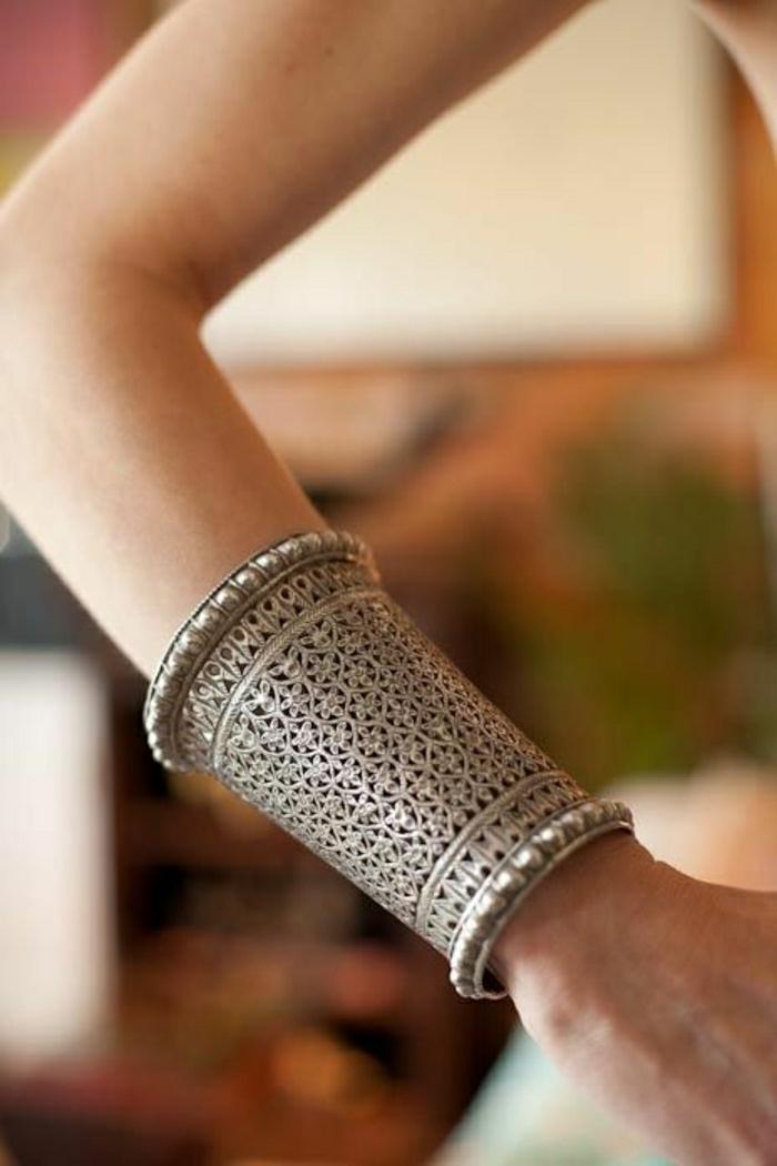 indischer-Schmuck-silbernes-Armband