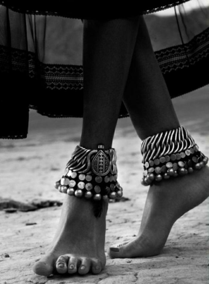 indischer-silberschmuck-Füße-Knöchel