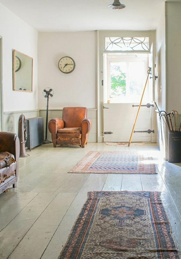 industrielles-Design-vintage-Teppich-räumlich-breit