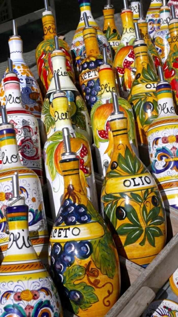 italienische-Keramik-Öl-und-Essig-Flaschen