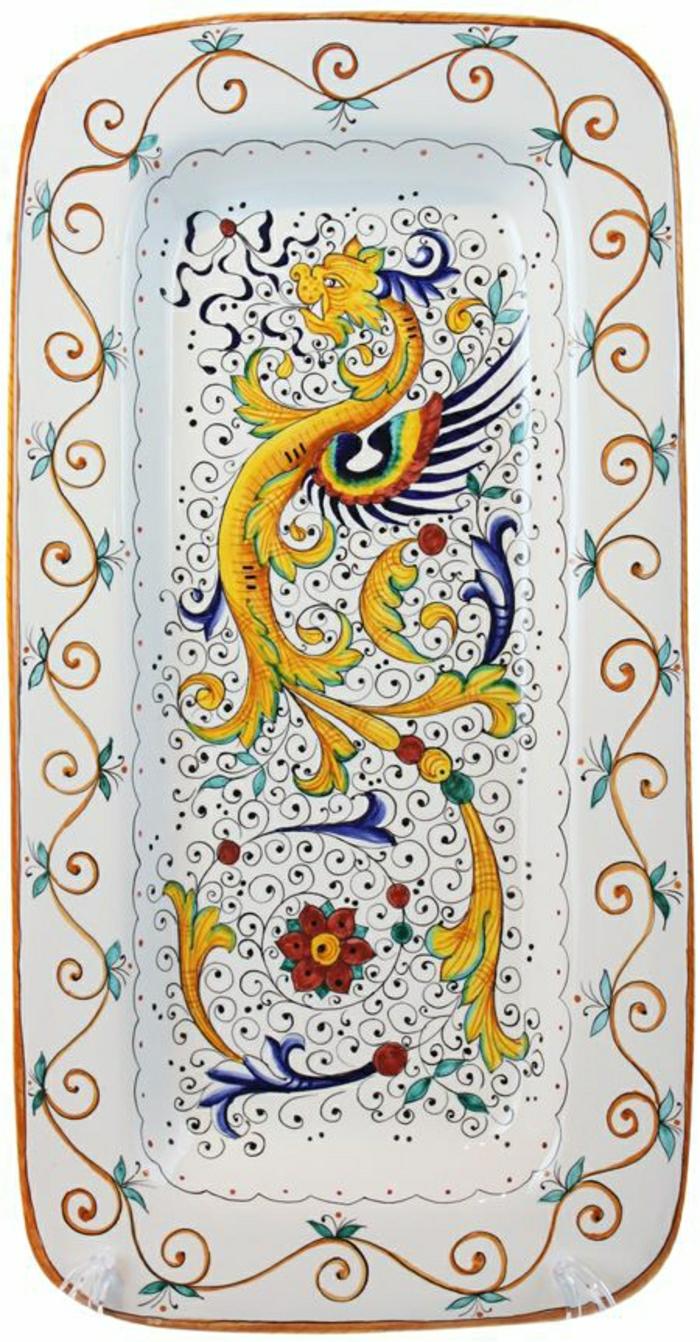 italienische-Keramik-Servierplatte-handgemalt