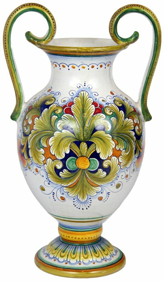 italienische-Keramik-feine-Tisch-Vase