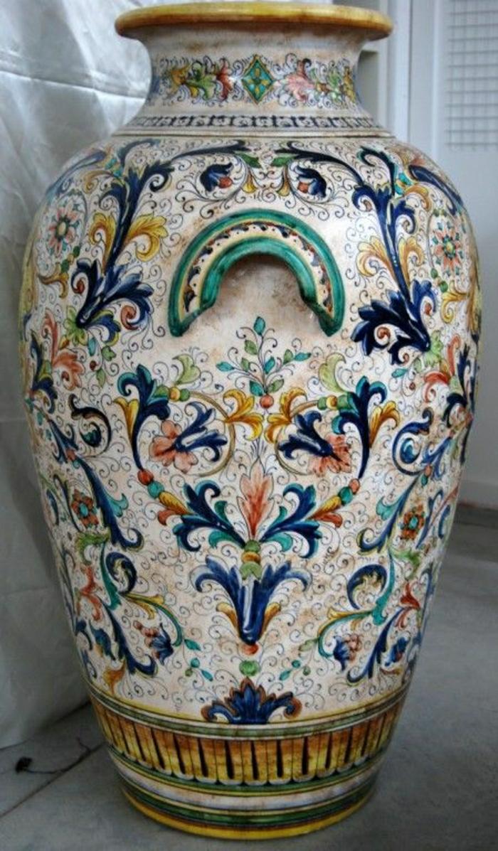 italienische-Keramik-große-Vase-exquisit-teuer