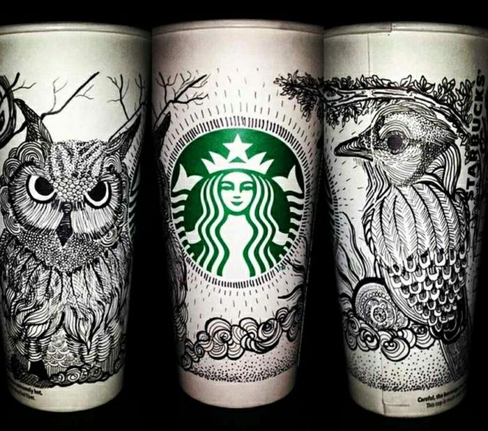 kaffeebecher-to-go-Papierbecher-Starbucks-schwarze-Zeichnungen-art
