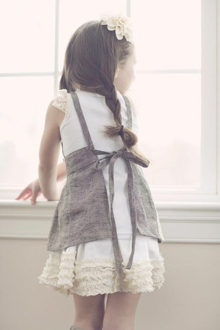 kinderschürze-nähen-graues-modernes-design-für-mädchen