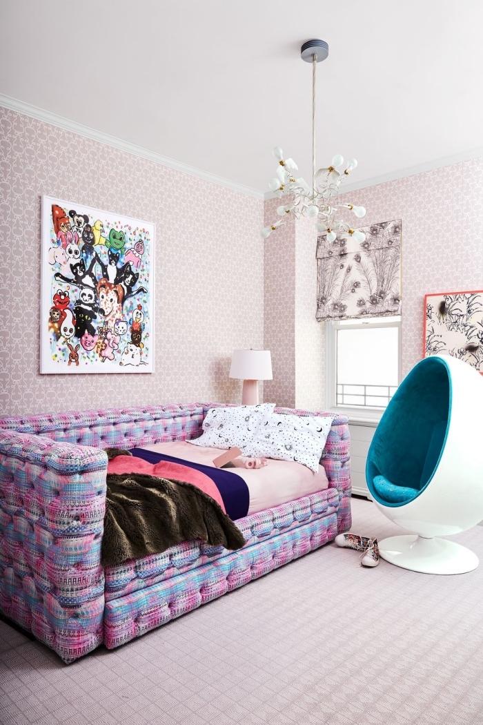 kinderzimmer deko ideen, jugendzimmer für mädchen, mädchenzimmer gestaltungsideen, rosa wände