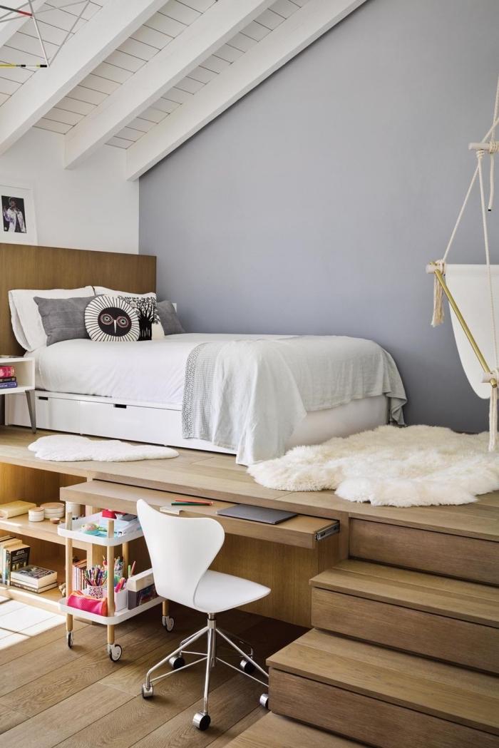 jugendzimmer gestalten, kinderzimmer deko junge, kleines zimmer einrichtungsideen