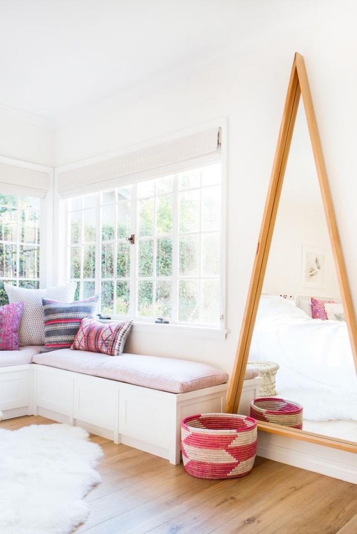 mädchenzimmer gestalten kinderzimmer deko mädchen, flauschiger teppich, einrichtungsideen