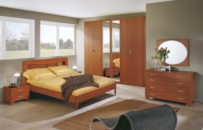 Schlafzimmer : Schlafzimmer Gestalten Braun Beige Schlafzimmer ... Schmales Schlafzimmer Einrichten