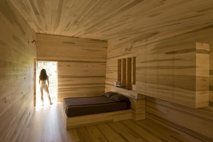 super tolles kleines schlafzimmer einrichten - alles aus holz