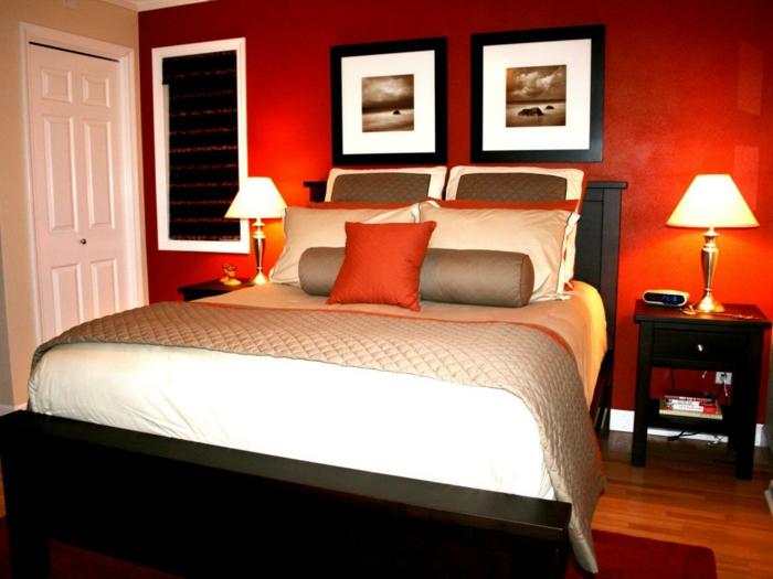 Glusci.com - Esszimmer Rote Wand ~ Interessante Ideen Für Das ... Schlafzimmer Rote Wand