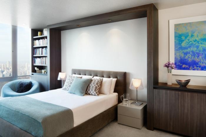 Kleines schlafzimmer einrichten originelle beleuchtung