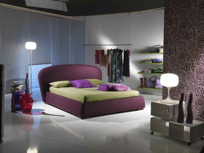 Schlafzimmer : Schlafzimmer Lila Braun Schlafzimmer Lila Braun In ... Schlafzimmer Einrichten Lila