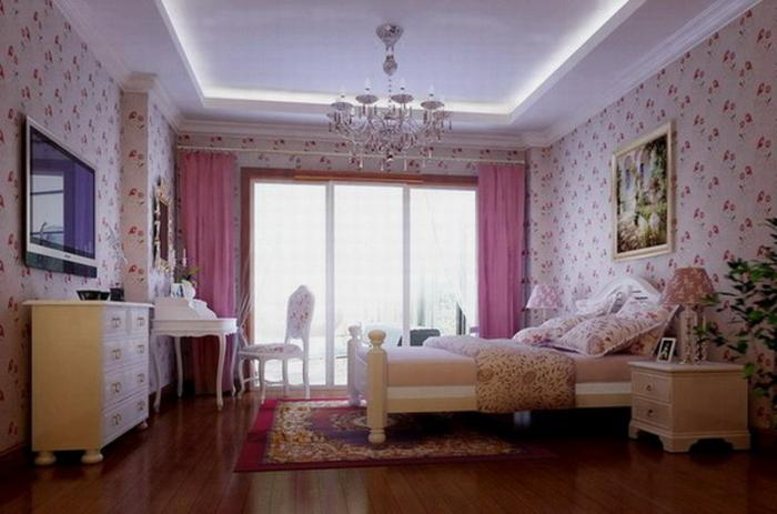 komplettes-Schlafzimmer-rosefarben