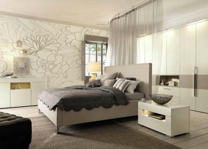 Schlafzimmer ideen weiß grau  Schlafzimmer komplett gestalten: einige neue Ideen! - Archzine.net