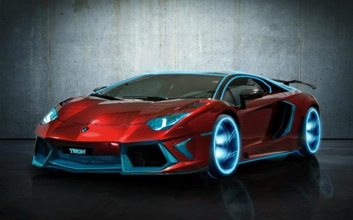 lamborghini-bilder-blaue-reifen-rotes-modell