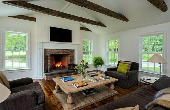92 einrichtungsideen wohnzimmer mit kachelofen den. Black Bedroom Furniture Sets. Home Design Ideas