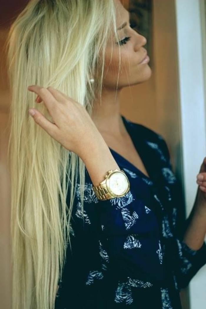 Lange glatte Haare sind immer im Trend!
