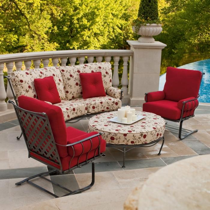loungemöbel -für-balkon-rot-isern-rahmn-rund