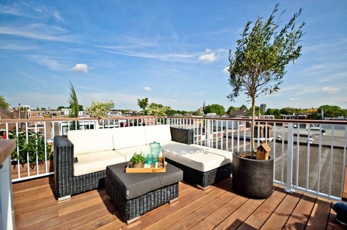 loungemöbel -für-balkon-weiß-schwarz