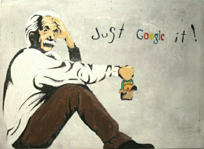 lustige-Graffiti-Albert-Einstein-Whiskey-flasche-lustiger-Spruch
