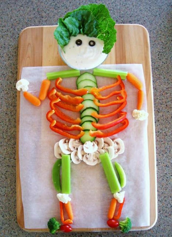 lustige-Idee-Kinder-Gemüse-Mann-gesundes-Essen