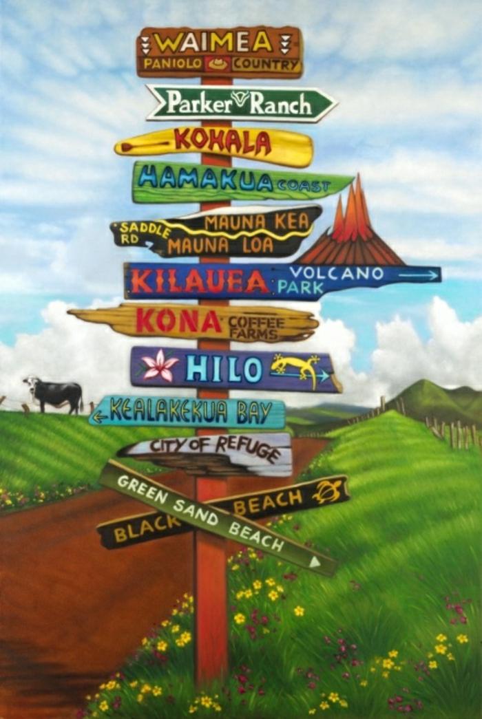 lustige-Schilder-Richtungen-Hawaii-Inseln