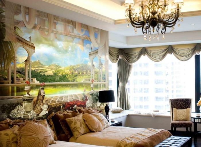 luxus-tapeten-beige-farbschemen