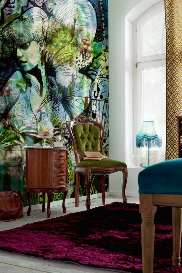 luxus tapeten 36 einmalige designs. Black Bedroom Furniture Sets. Home Design Ideas