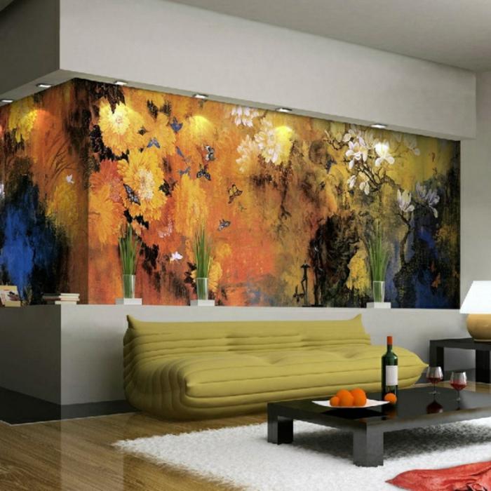 luxus-tapeten-grünes-sofa