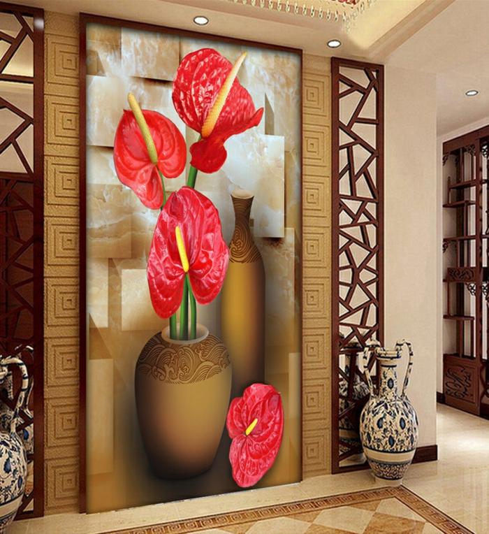 Luxus tapeten 36 einmalige designs for Rote tapeten wandgestaltung
