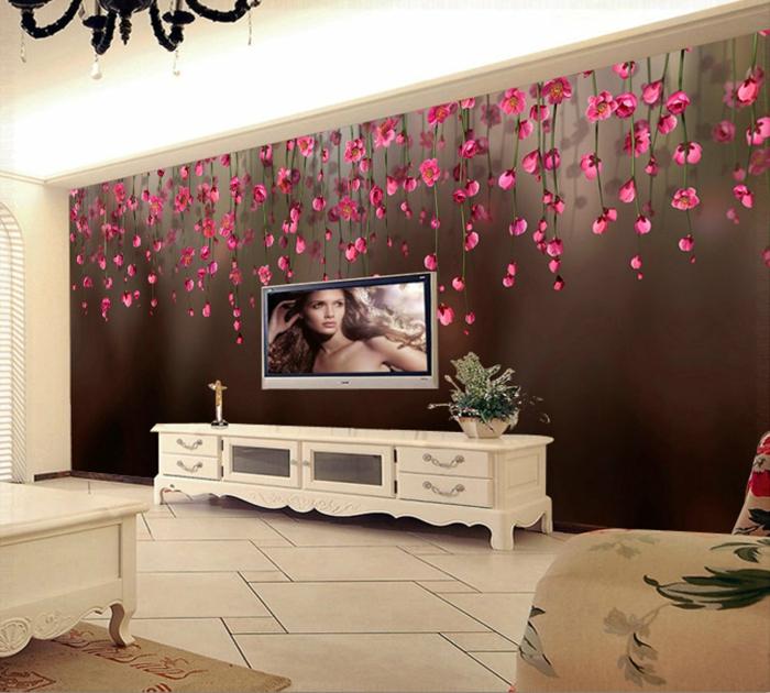 luxus-tapeten-rosige-blümchen