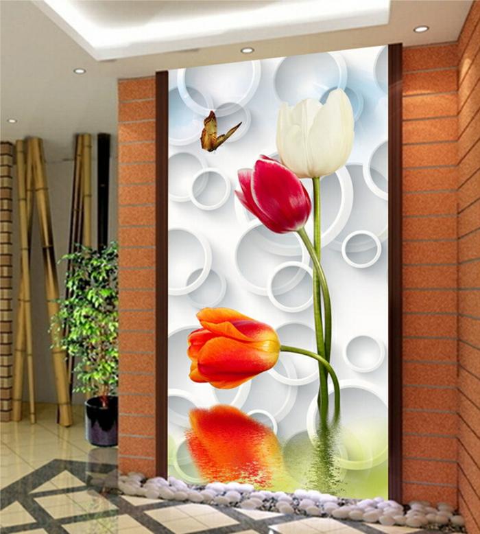 luxus-tapeten-rote-tulpen