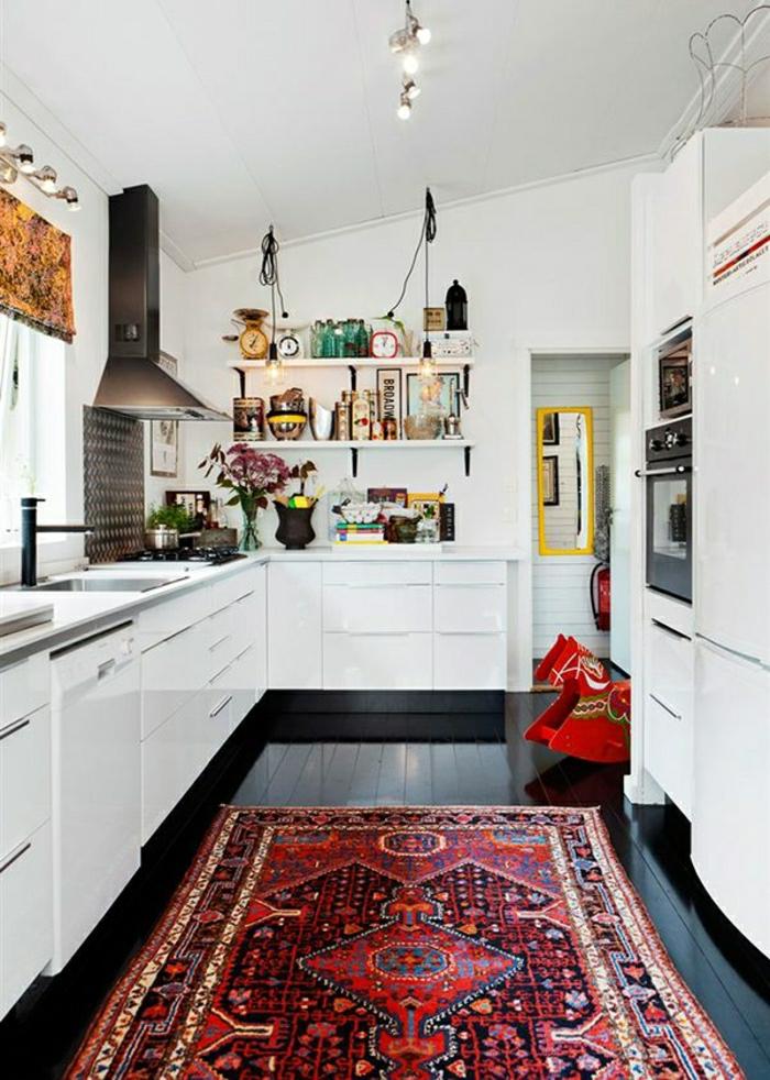 moderne-Küche-vintage-Teppich