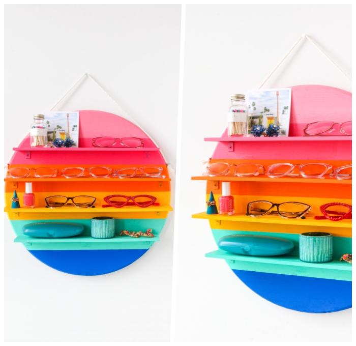 persönliche geschenke, muttertagsgeschenk ideen, diy geschenk zum muttertag, brillenstänger in den farben des regenbogens