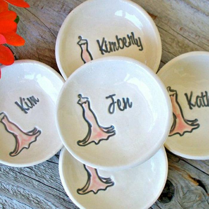 personalisierte-Brautjungfern-Geschenke-Keramikplatten