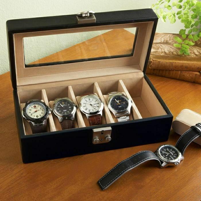 personalisiertes-Geschenk-für-Männer-Uhren-Schachtel-elegant