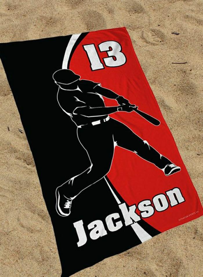 personalistiertes-Tuch-Baseball-Spieler-Strand