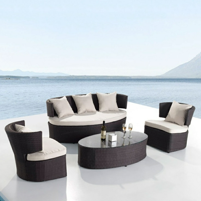 45 sch ne bilder von polyrattan tisch. Black Bedroom Furniture Sets. Home Design Ideas