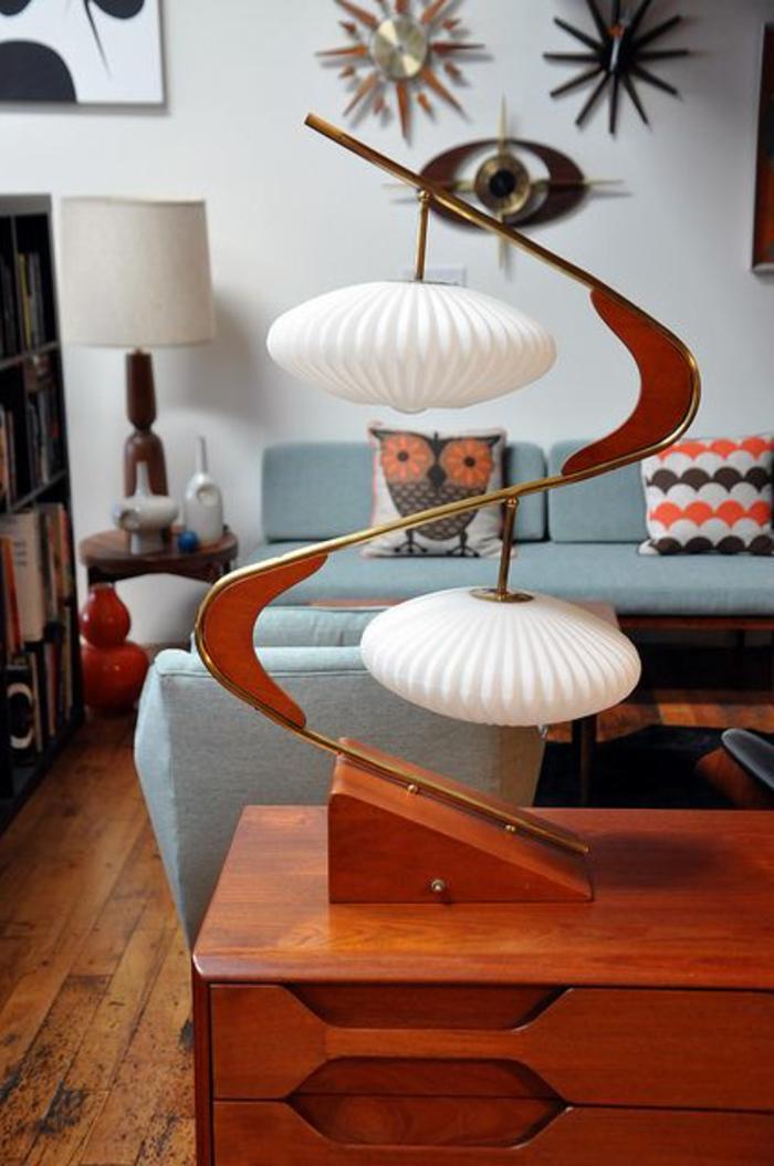 retro-lampen-elegantes-wohnzimmer