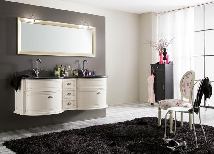 retro-möbel-schwarz-weiß-weicher-Teppich
