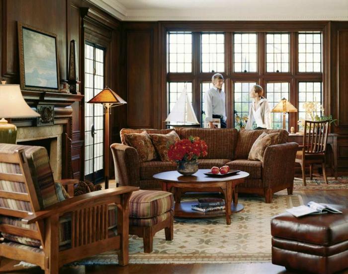 retro-möbel-wohnzimmer-braun