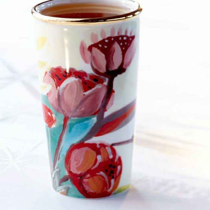 schöner-handgemalter-Kaffee-Becher-Blumen-Starbucks