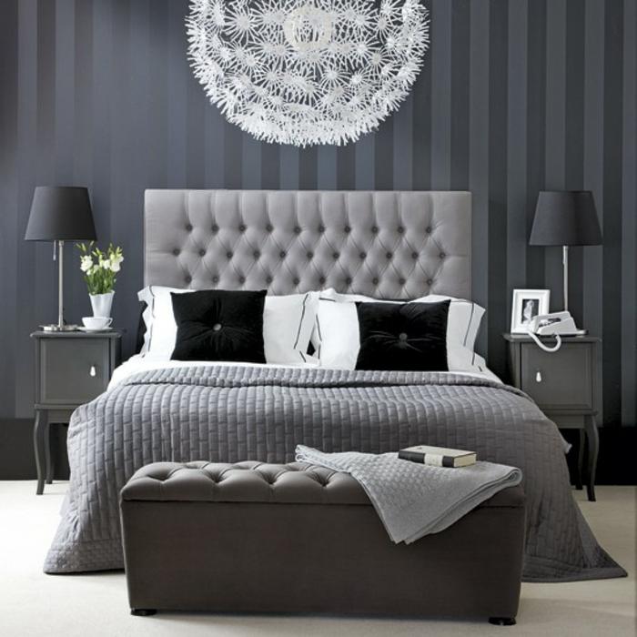 Schlafzimmer Lampe Dekoration : Tolle vorschläge für schlafzimmer in grau archzine