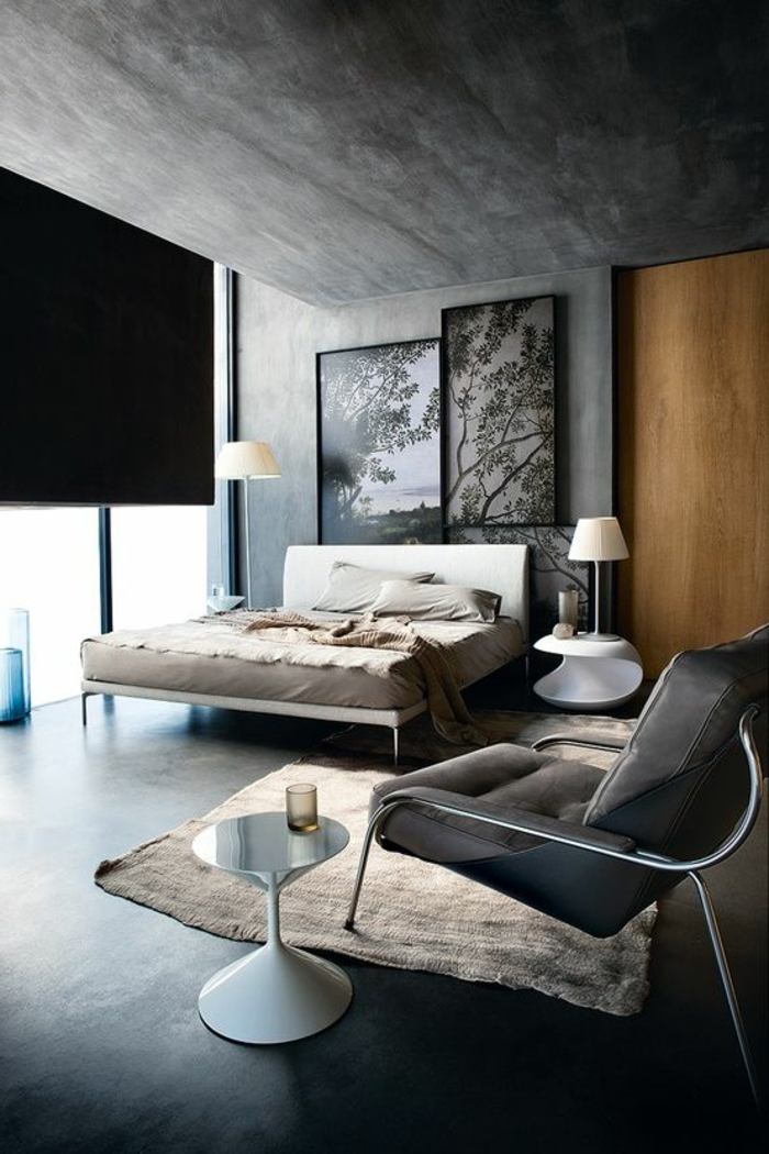 schlafzimmer-in-grau-dunkles-design