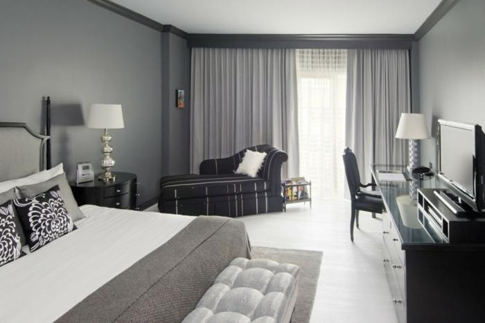 Schlafzimmer Grau Grün : Frisch aussehendes Schlafzimmer in Grau und ...