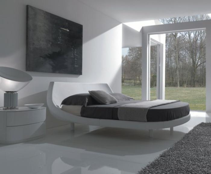 schlafzimmer-in-grau-graues-modell-große-wand-aus-glas