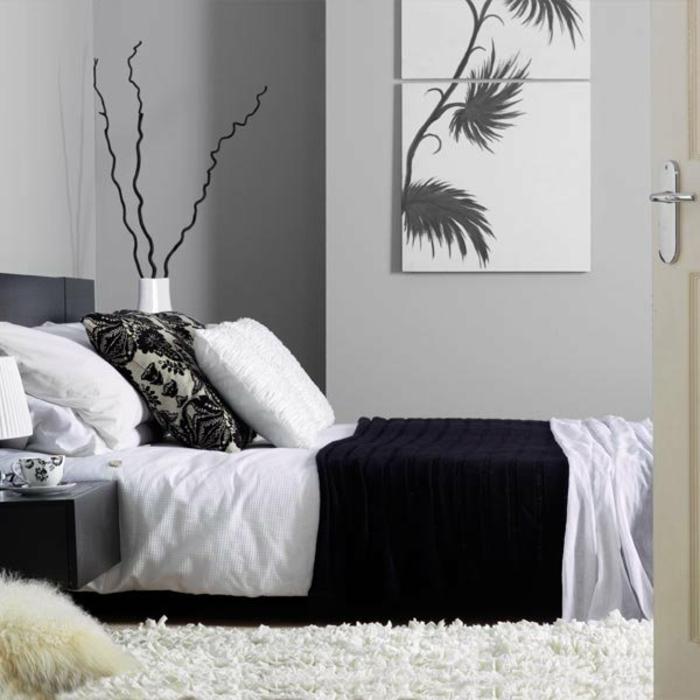 schlafzimmer-in-grau-interessantes-modell-in-wieß-und-schwarz